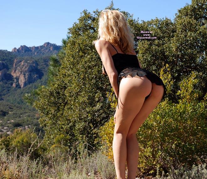Outdoor black asshole webcam
