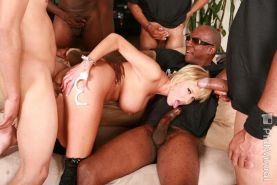 Big boobs domination mounth gangbang
