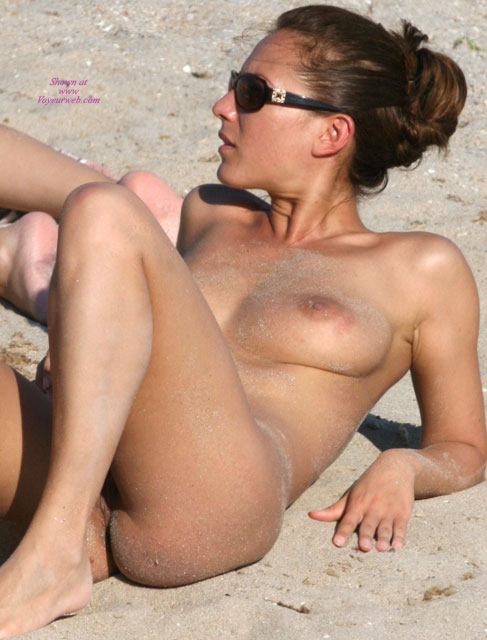 beach upskirt Otngagged blonde