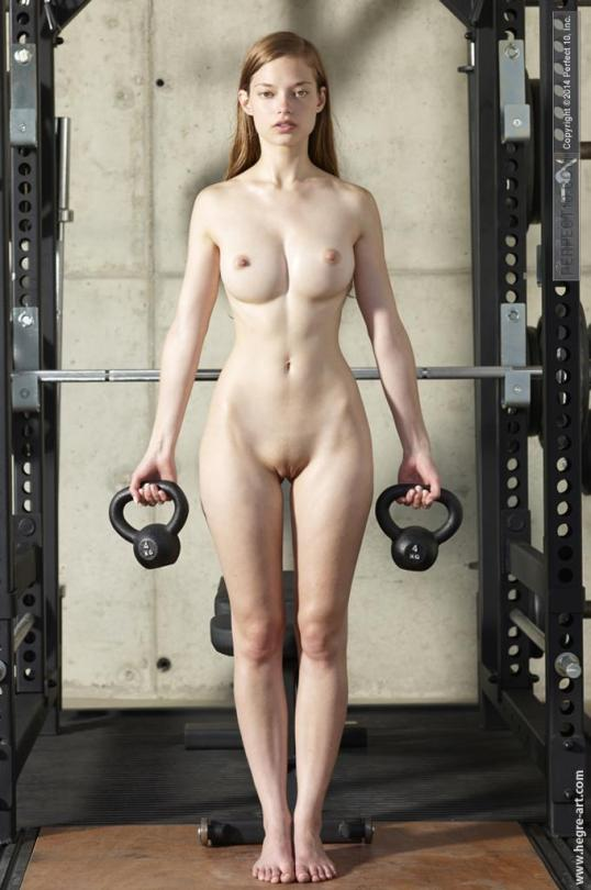 nude sexy Amateur gym