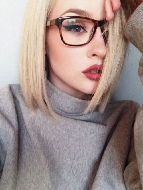 Pigtails glasses hot boobs