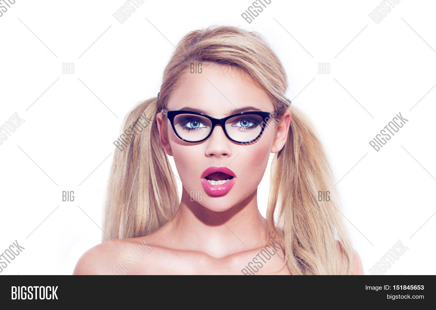 hot Pigtails boobs glasses