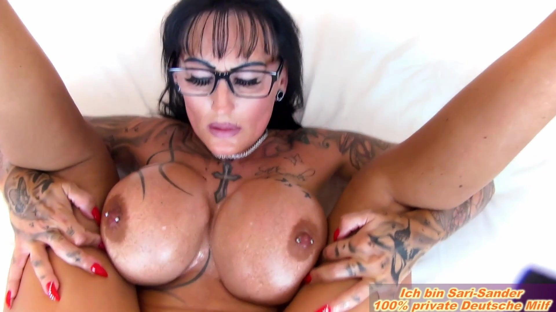 Glasses handsome boobs oiled
