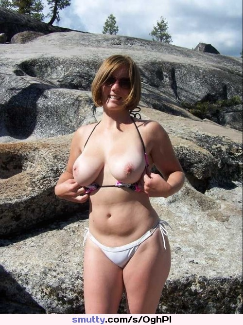 asian outdoor Bikini wife
