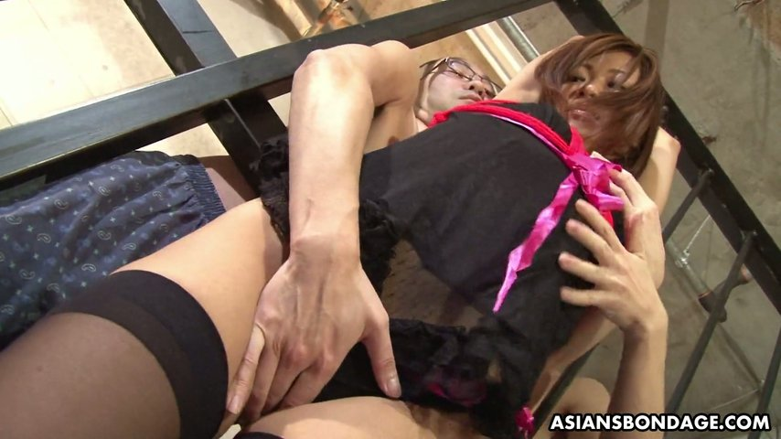 Bondage upskirt panties asian