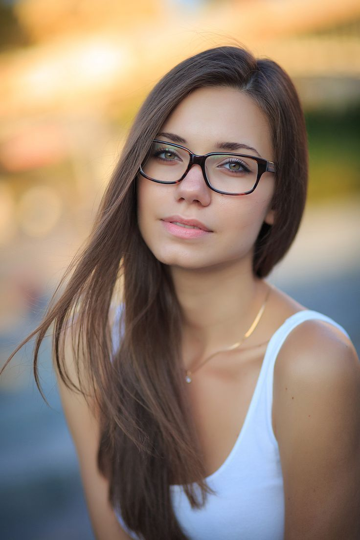 glasses brunette Sweet old