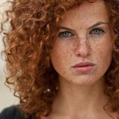 redhead Maid curly shared