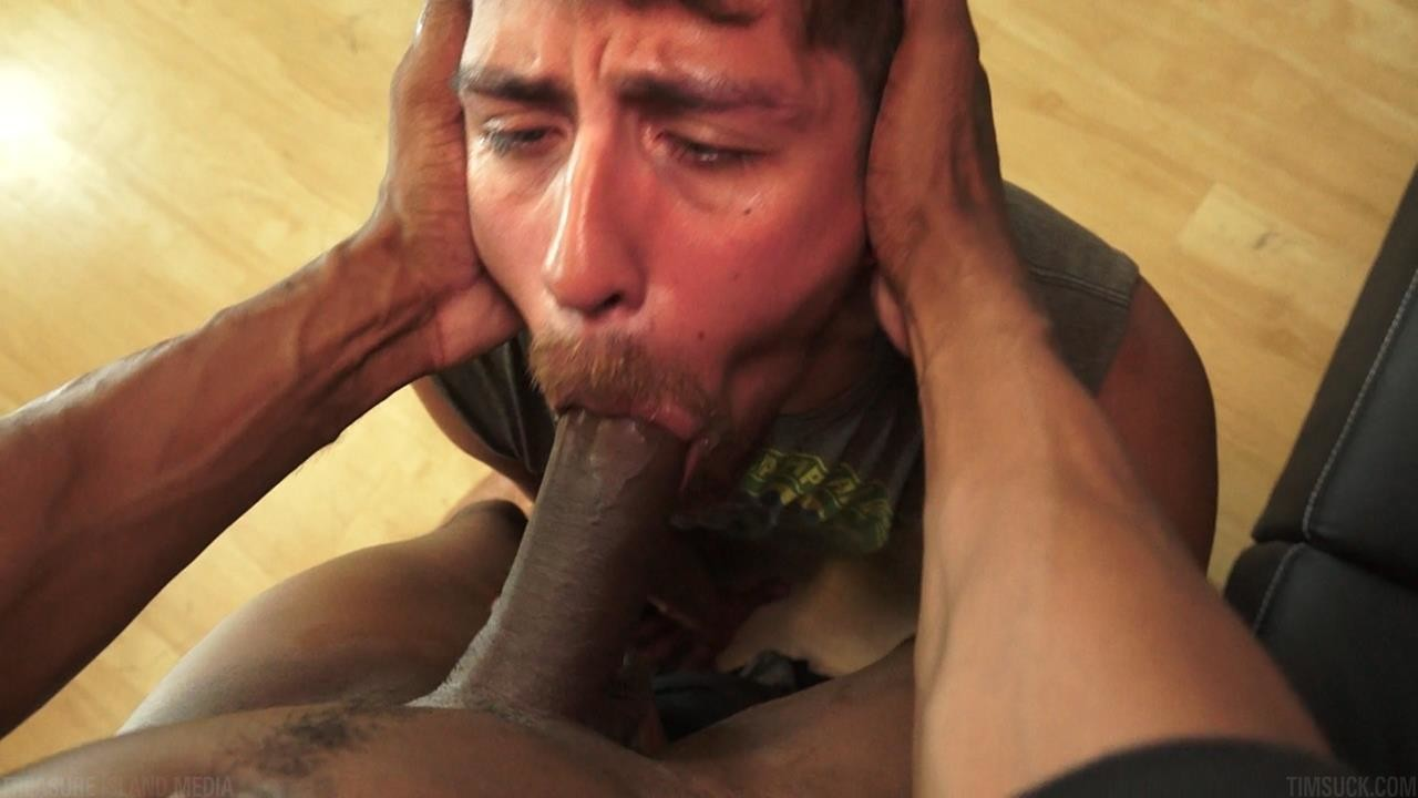 muscle Gagging spitroast blowjob double