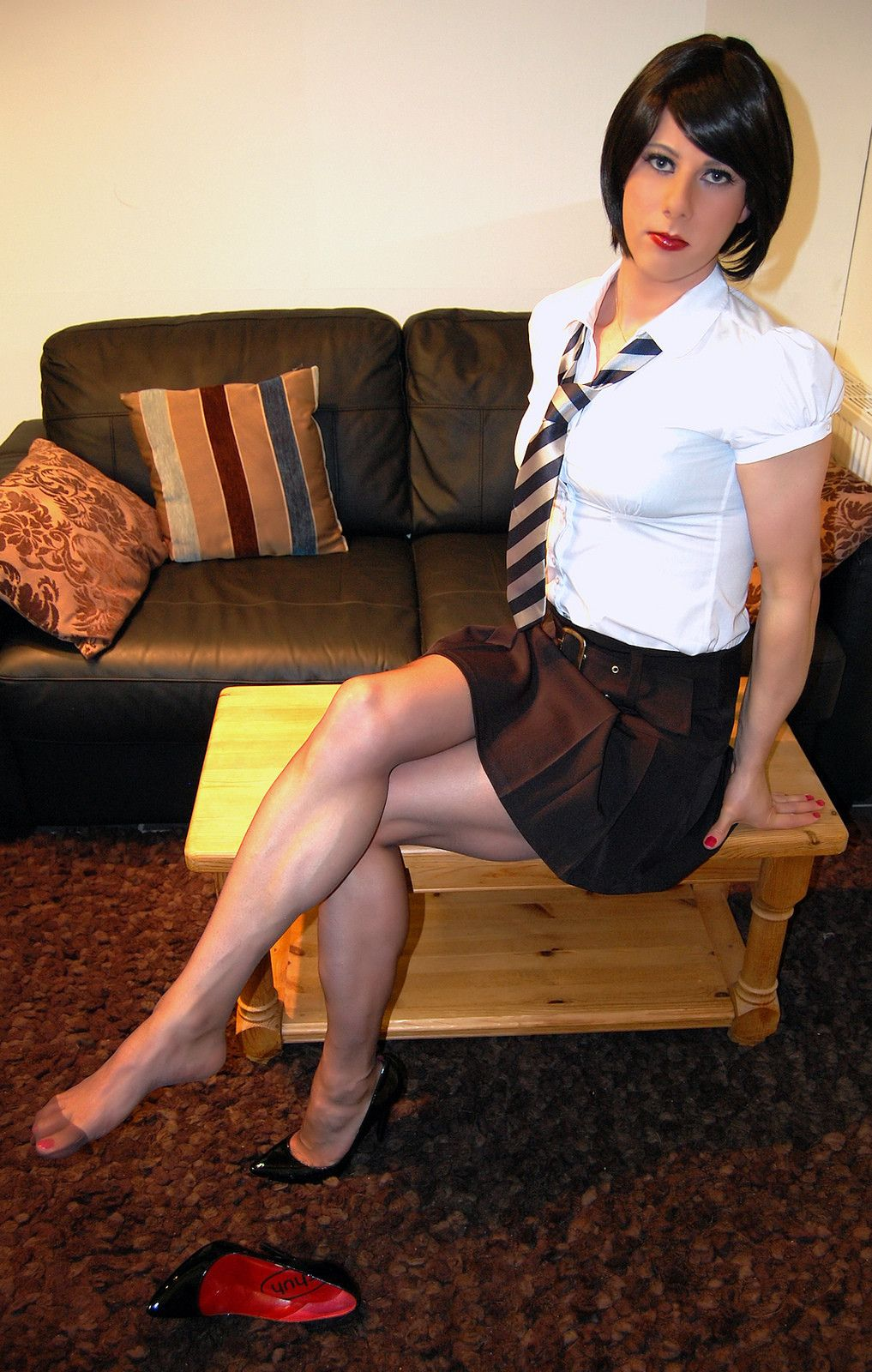 time Mounth schoolgirl first tribbing