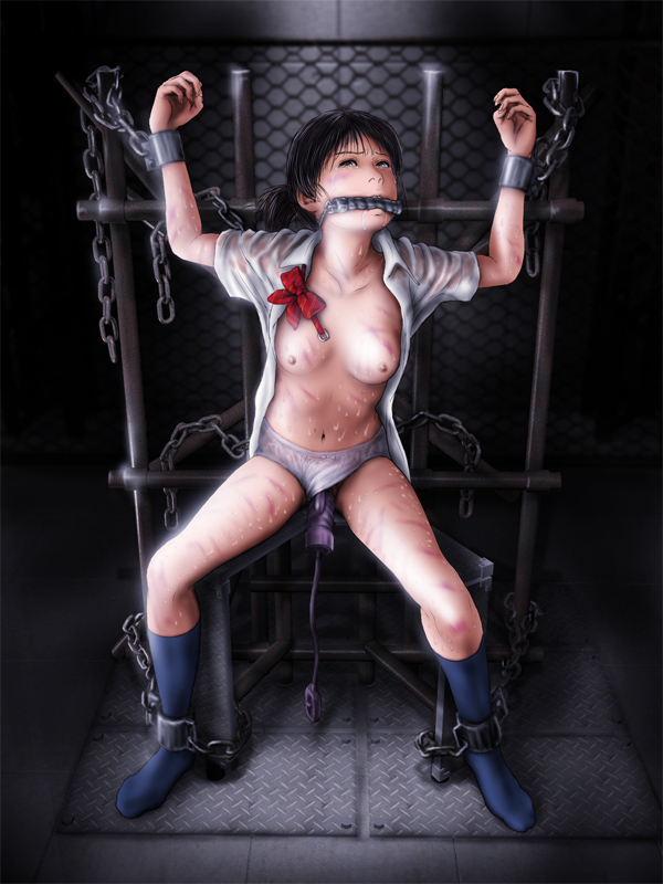 uniform otngagged bondage Bdsm