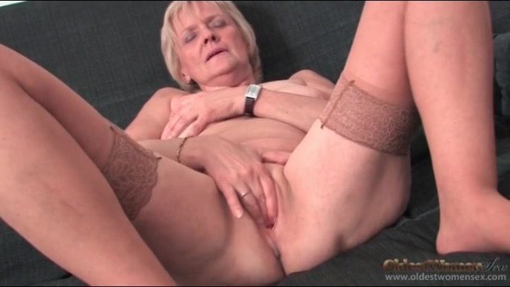 strip grannies pantyhose Brunette