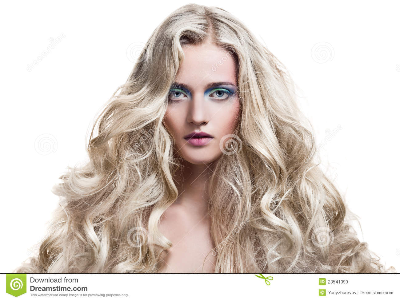 blonde long hair sexy Curly