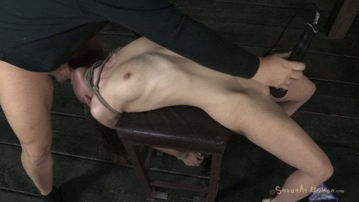 Party girl squirting latex
