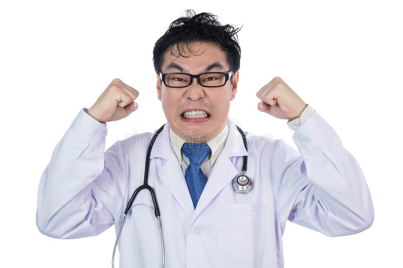 Messy doctor asian screaming