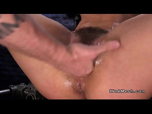tribbing Oiled rough hairy